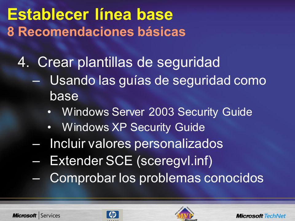 Establecer línea base 8 Recomendaciones básicas