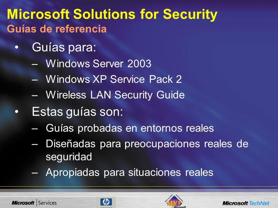 Microsoft Solutions for Security Guías de referencia