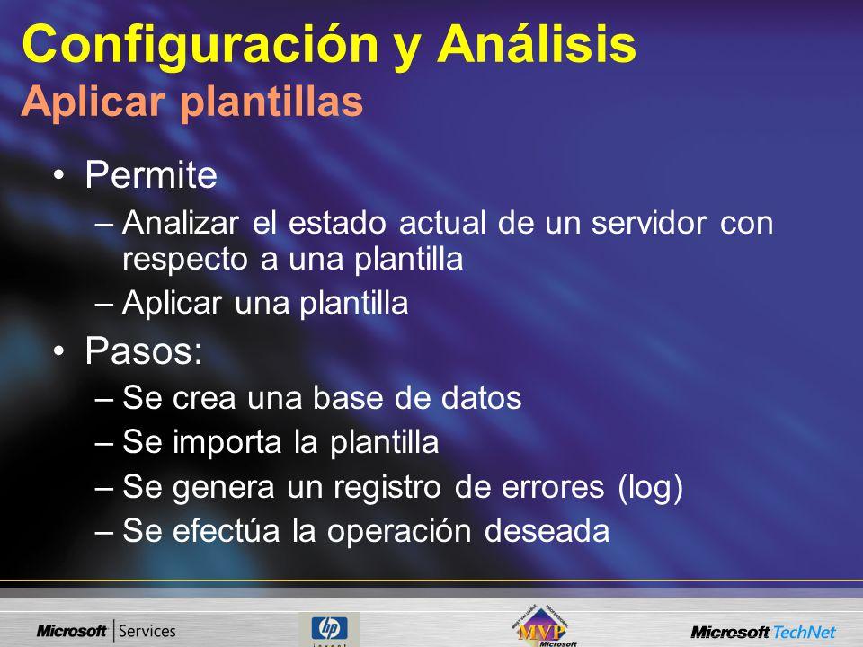 Configuración y Análisis Aplicar plantillas