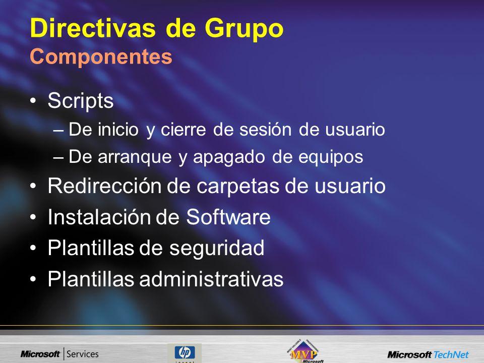 Directivas de Grupo Componentes