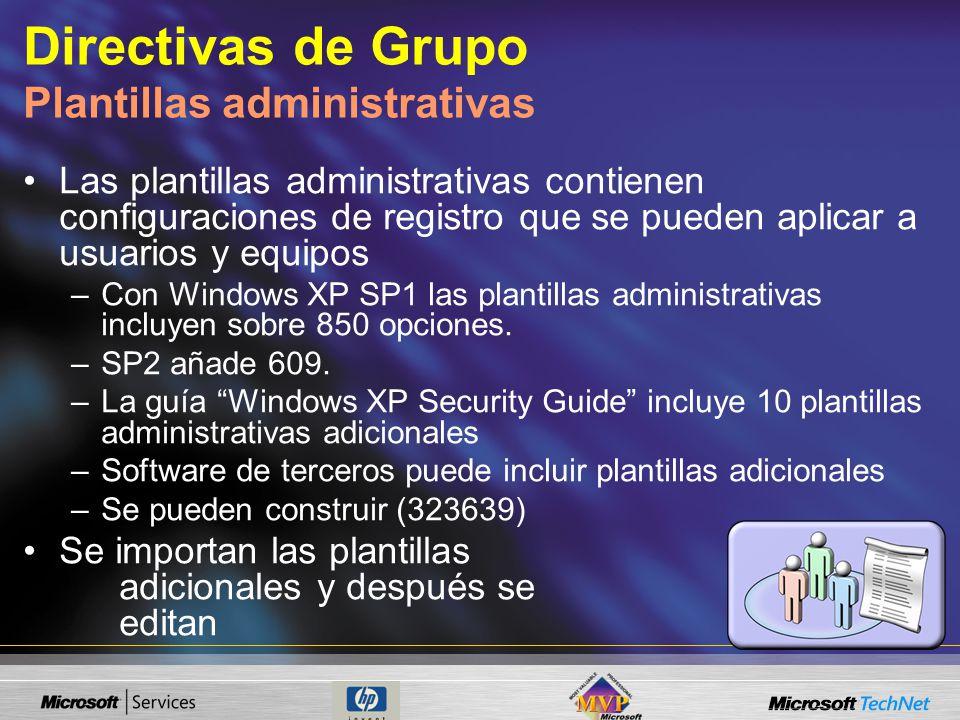 Directivas de Grupo Plantillas administrativas