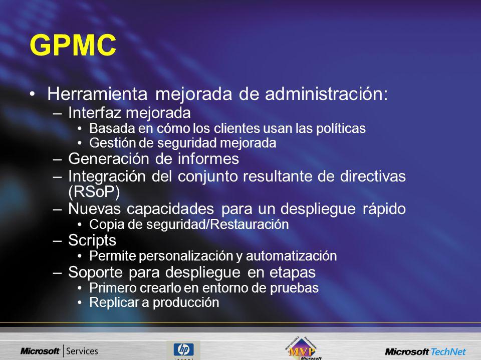 GPMC Herramienta mejorada de administración: Interfaz mejorada