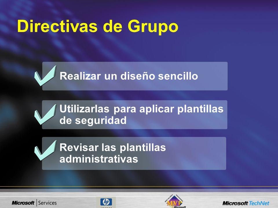 Directivas de Grupo Realizar un diseño sencillo