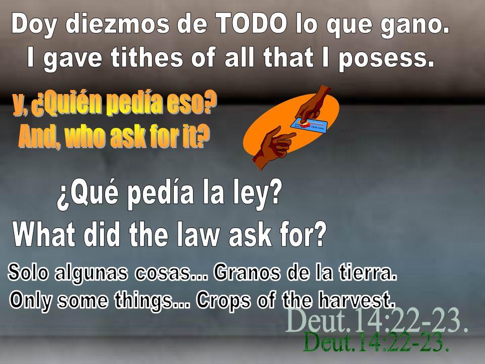 y, ¿Quién pedía eso And, who ask for it ¿Qué pedía la ley
