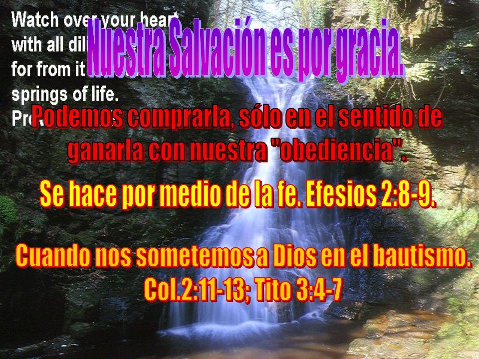 Nuestra Salvación es por gracia.