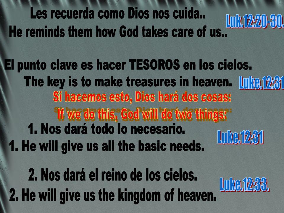 Si hacemos esto, Dios hará dos cosas: