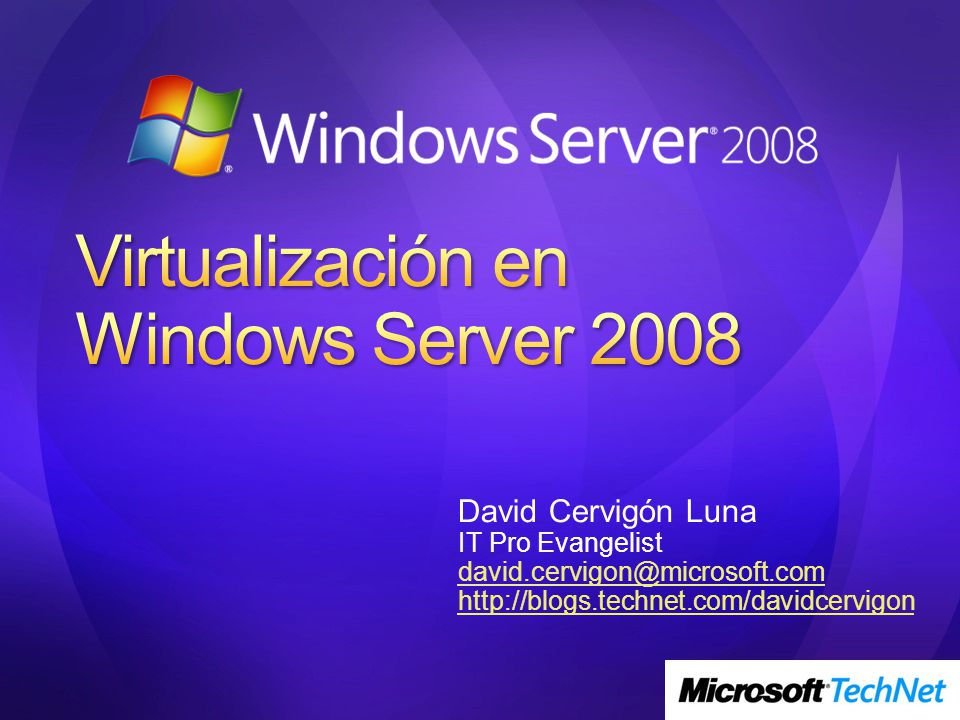 Virtualización en Windows Server 2008