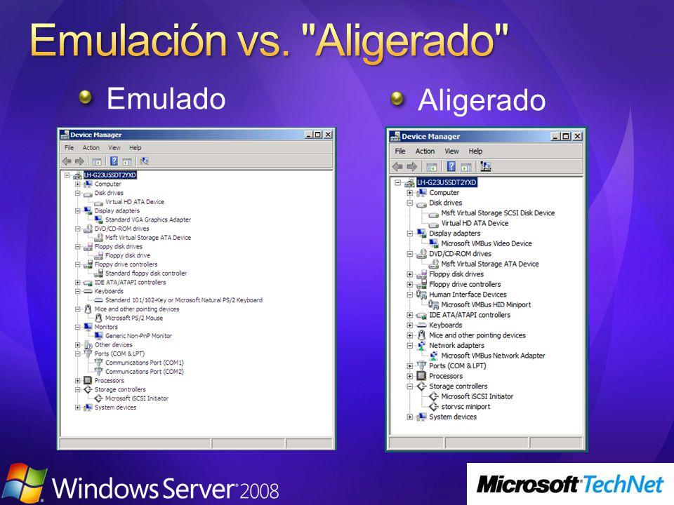 Emulación vs. Aligerado