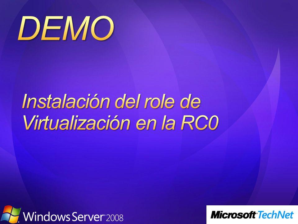 Instalación del role de Virtualización en la RC0