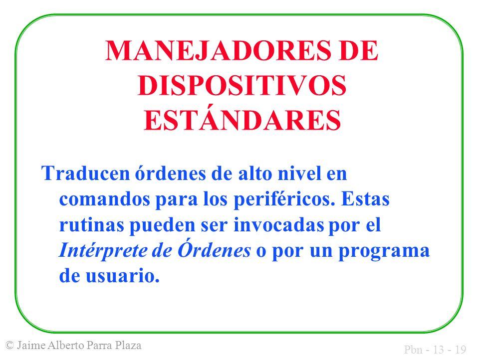 MANEJADORES DE DISPOSITIVOS ESTÁNDARES