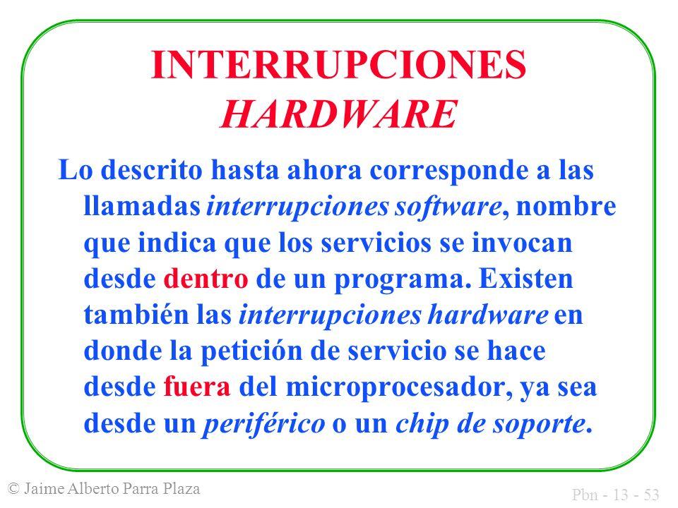 INTERRUPCIONES HARDWARE
