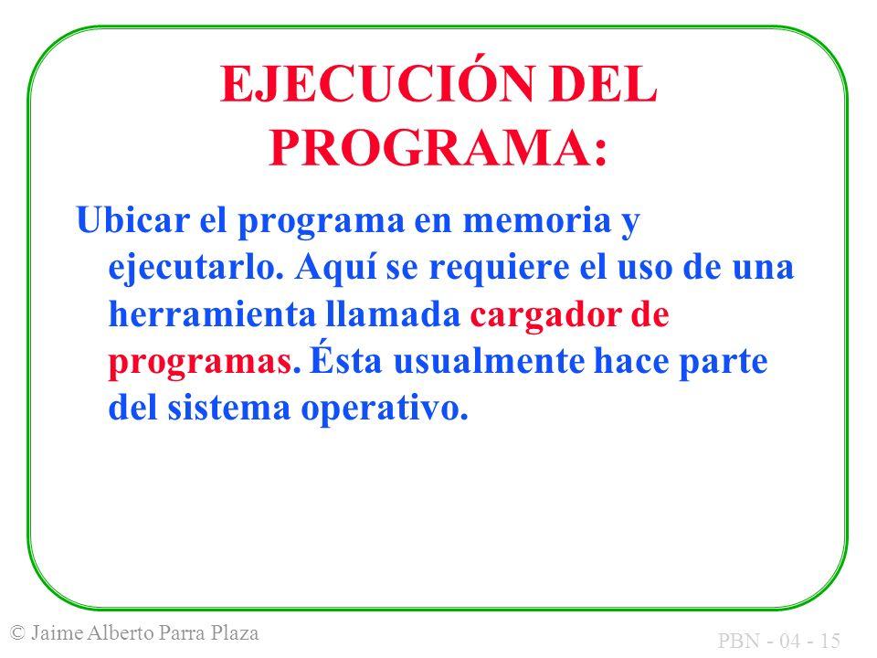 EJECUCIÓN DEL PROGRAMA: