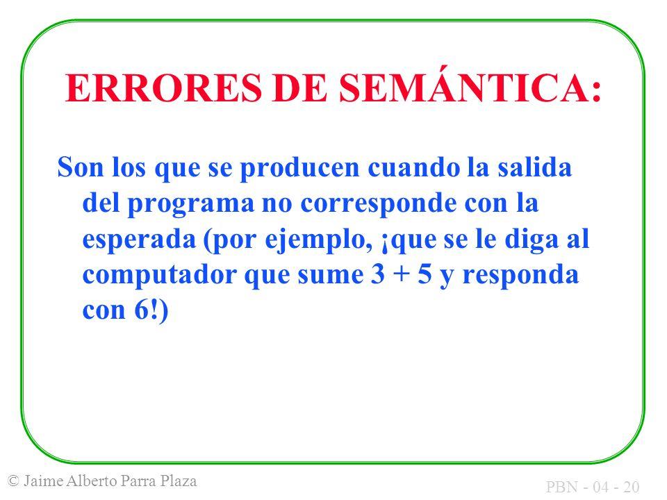 ERRORES DE SEMÁNTICA: