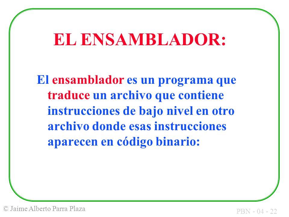 EL ENSAMBLADOR: