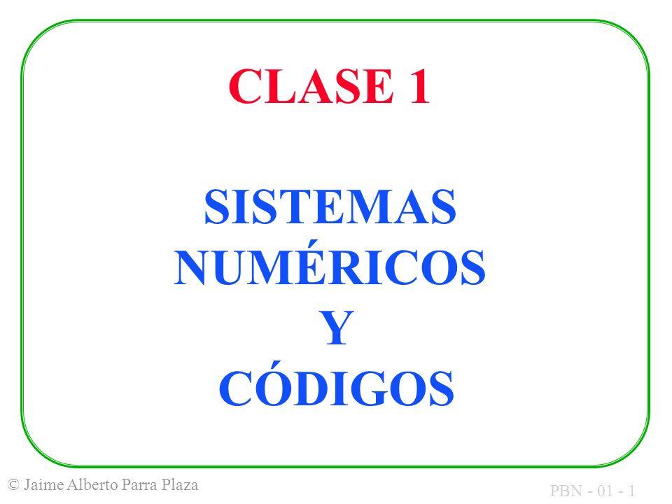 CLASE 1 SISTEMAS NUMÉRICOS Y CÓDIGOS