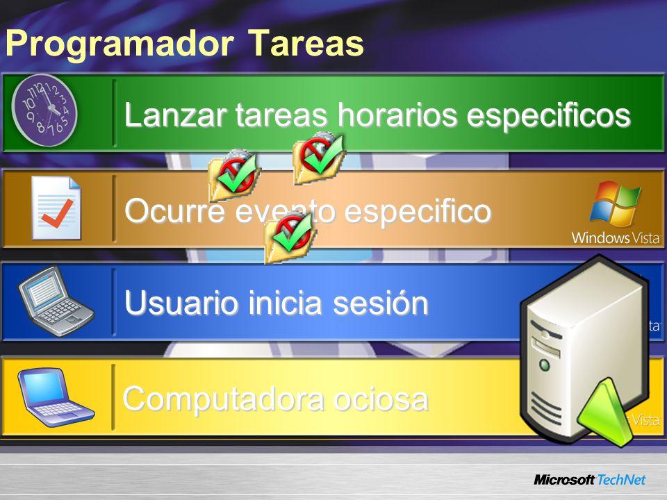 Programador Tareas Lanzar tareas horarios especificos