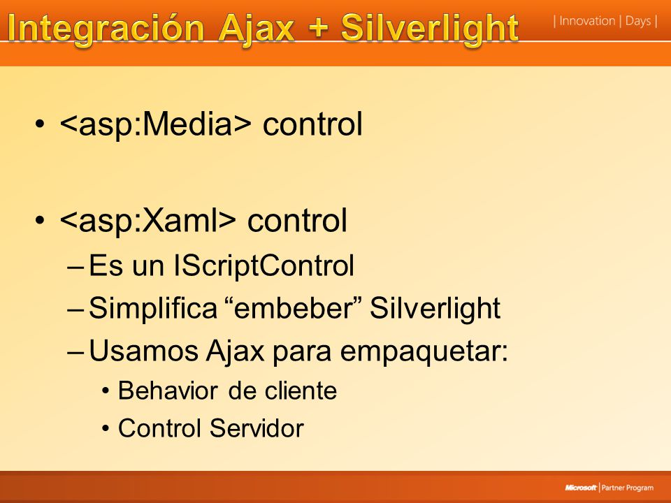 Integración Ajax + Silverlight