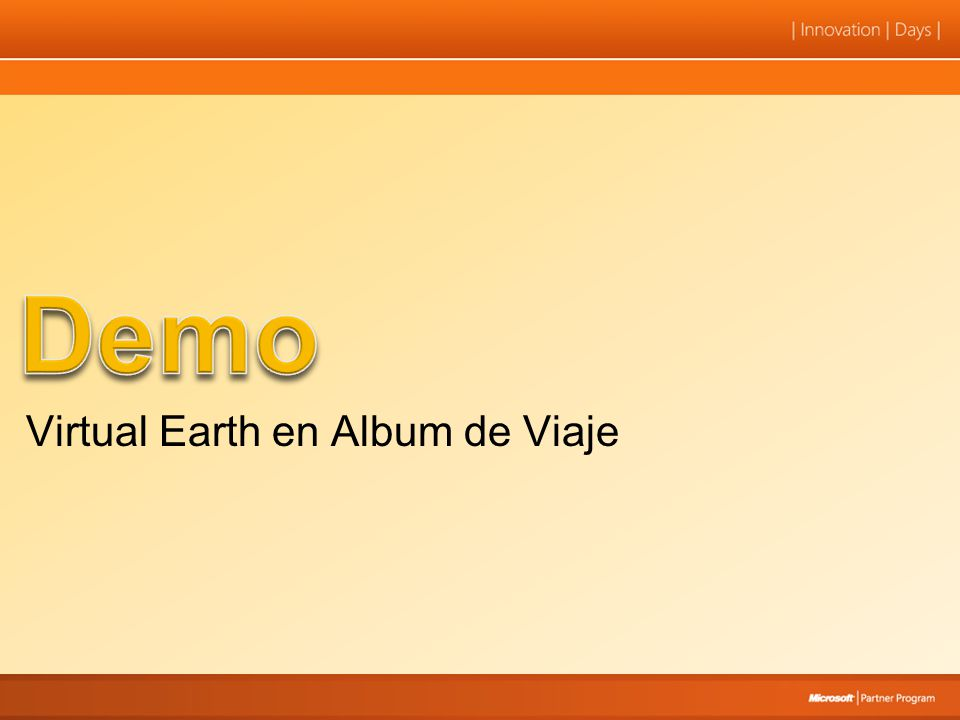 Demo Virtual Earth en Album de Viaje