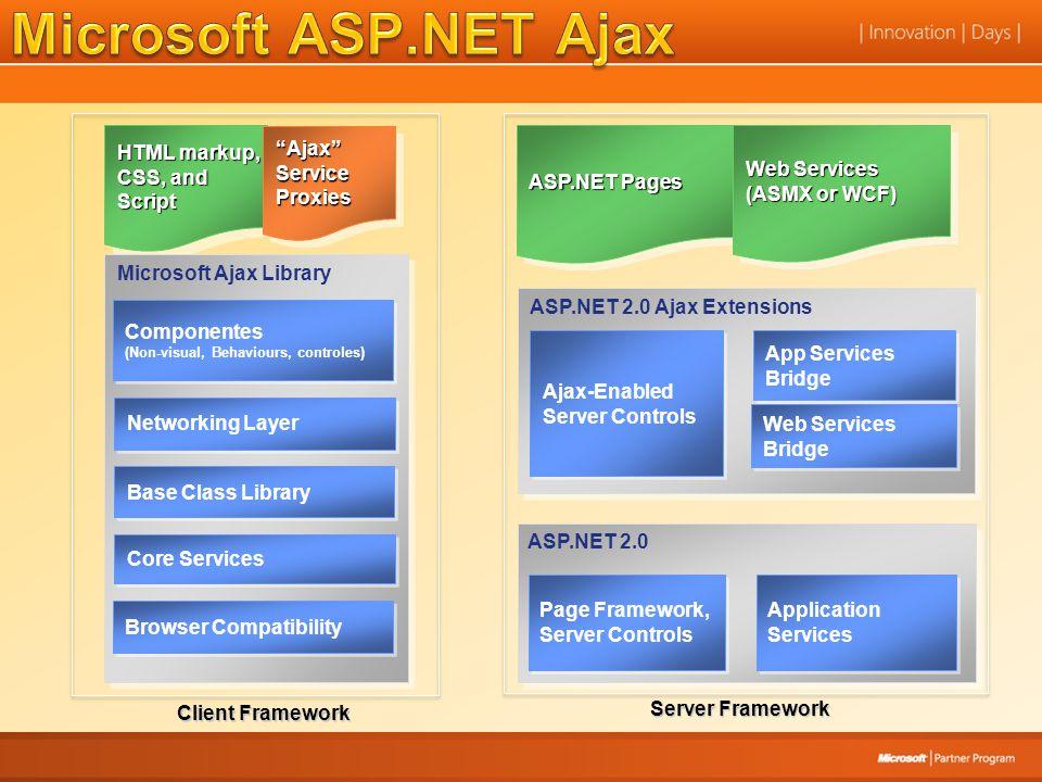 Microsoft ASP.NET Ajax Server Framework ASP.NET 2.0