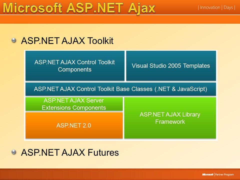 Microsoft ASP.NET Ajax ASP.NET AJAX Toolkit ASP.NET AJAX Futures