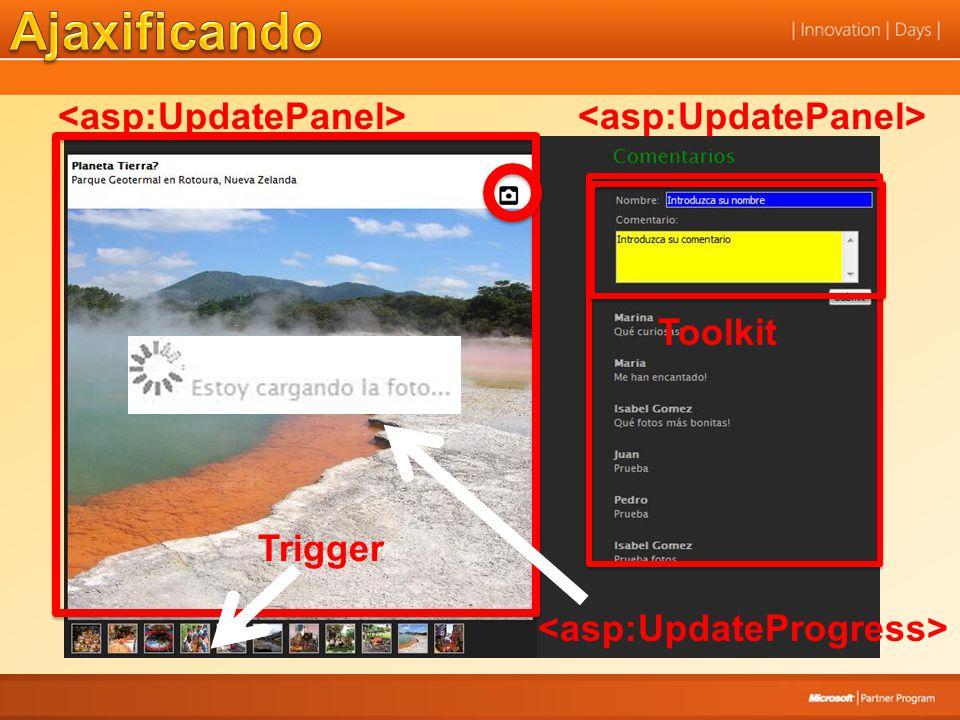 Ajaxificando <asp:UpdatePanel> <asp:UpdatePanel> Toolkit
