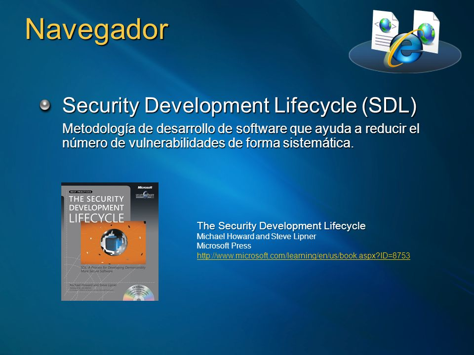 Navegador Security Development Lifecycle (SDL)