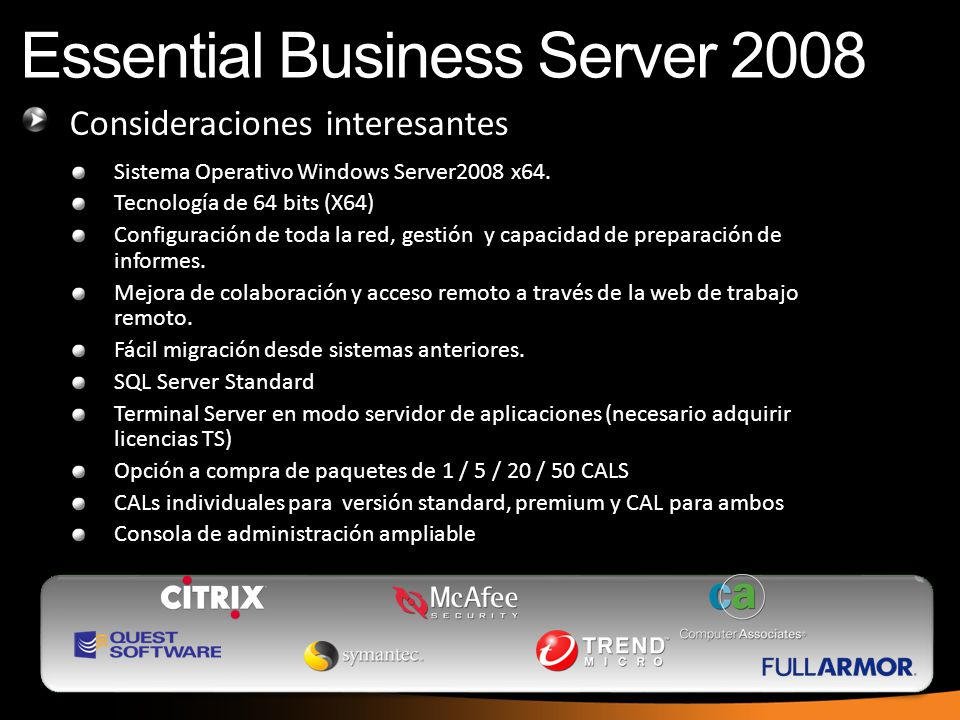 Essential Business Server 2008
