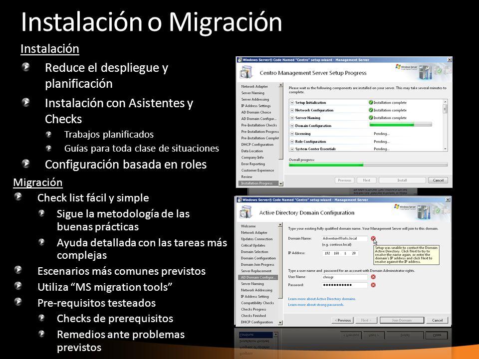 Instalación o Migración
