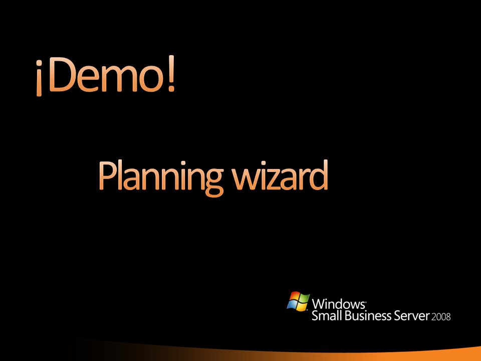 ¡Demo! Planning wizard