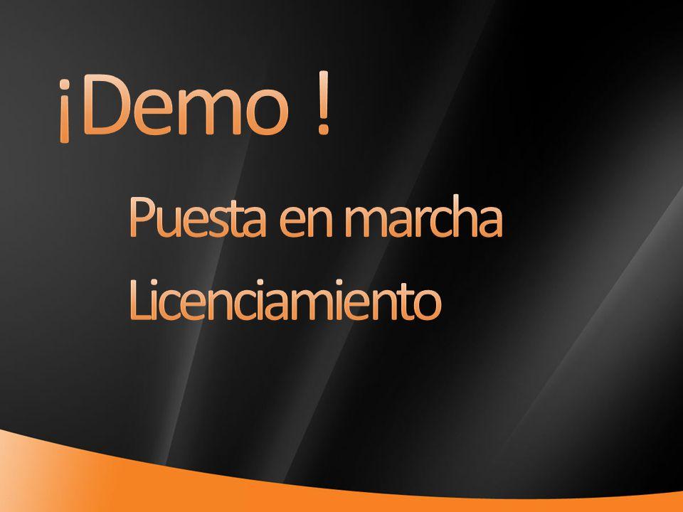 ¡Demo ! Puesta en marcha Licenciamiento 4/1/2017
