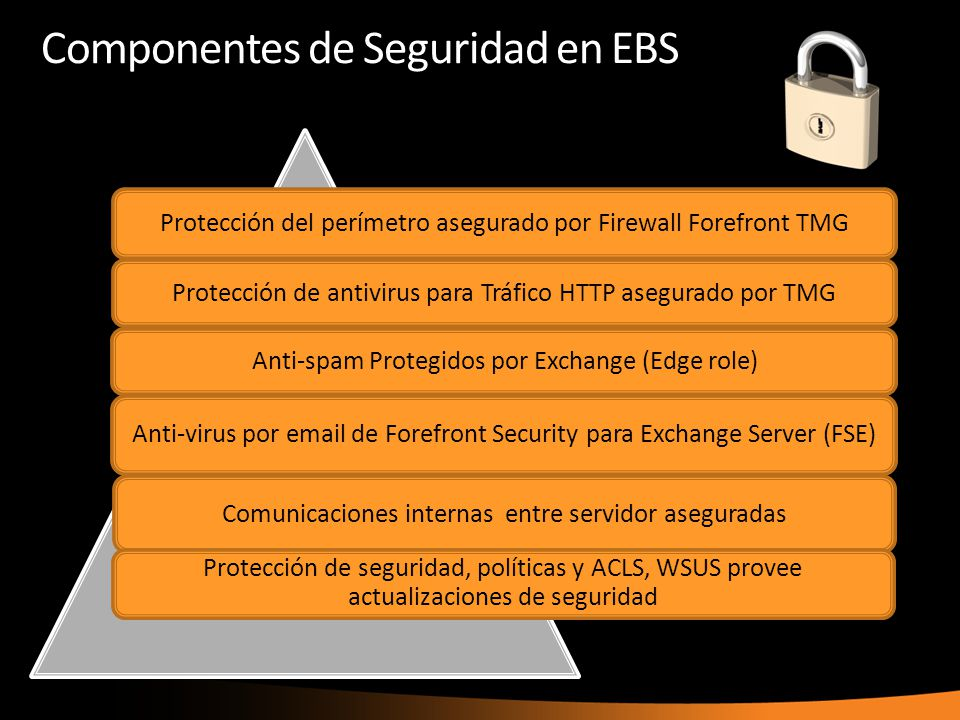 Componentes de Seguridad en EBS