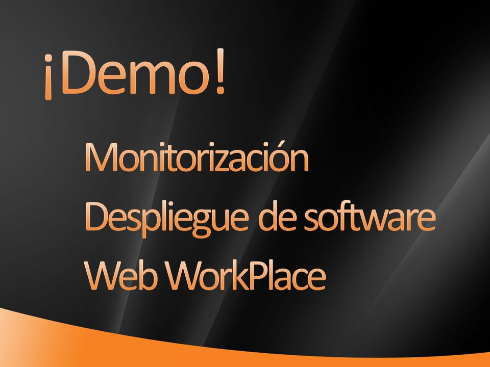 ¡Demo! Monitorización Despliegue de software Web WorkPlace 4/1/2017