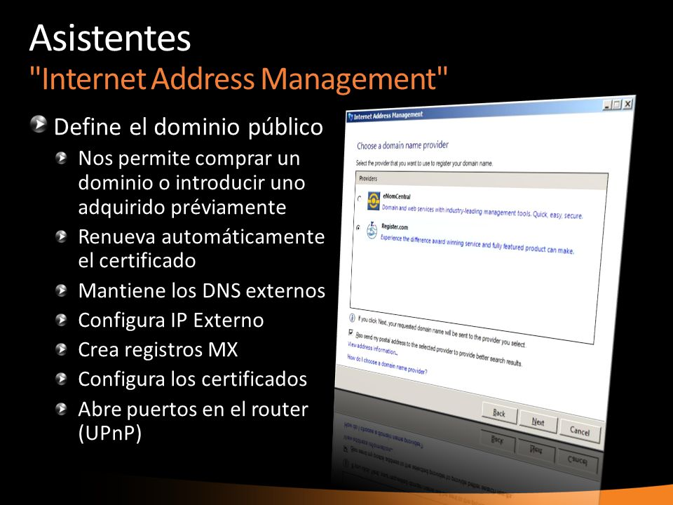 Asistentes Internet Address Management