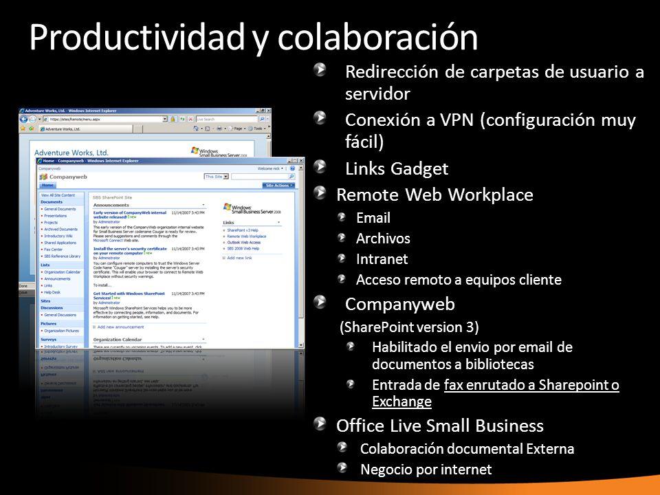 Productividad y colaboración