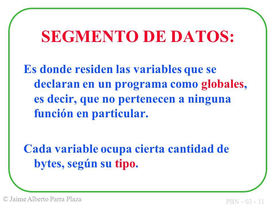 SEGMENTO DE DATOS: