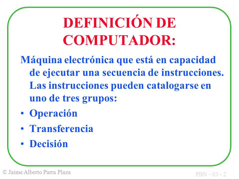 DEFINICIÓN DE COMPUTADOR: