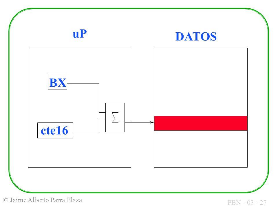 uP DATOS BX cte16