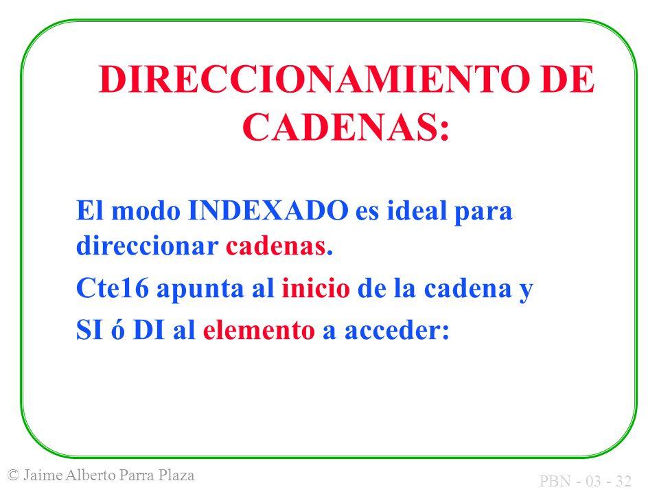 DIRECCIONAMIENTO DE CADENAS: