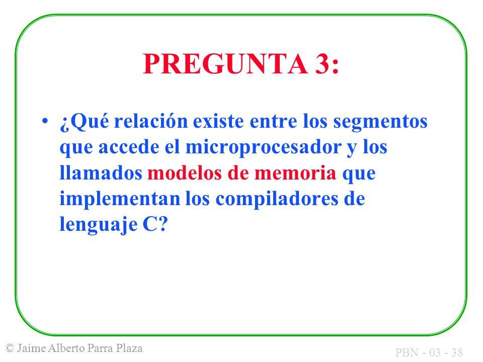 PREGUNTA 3: