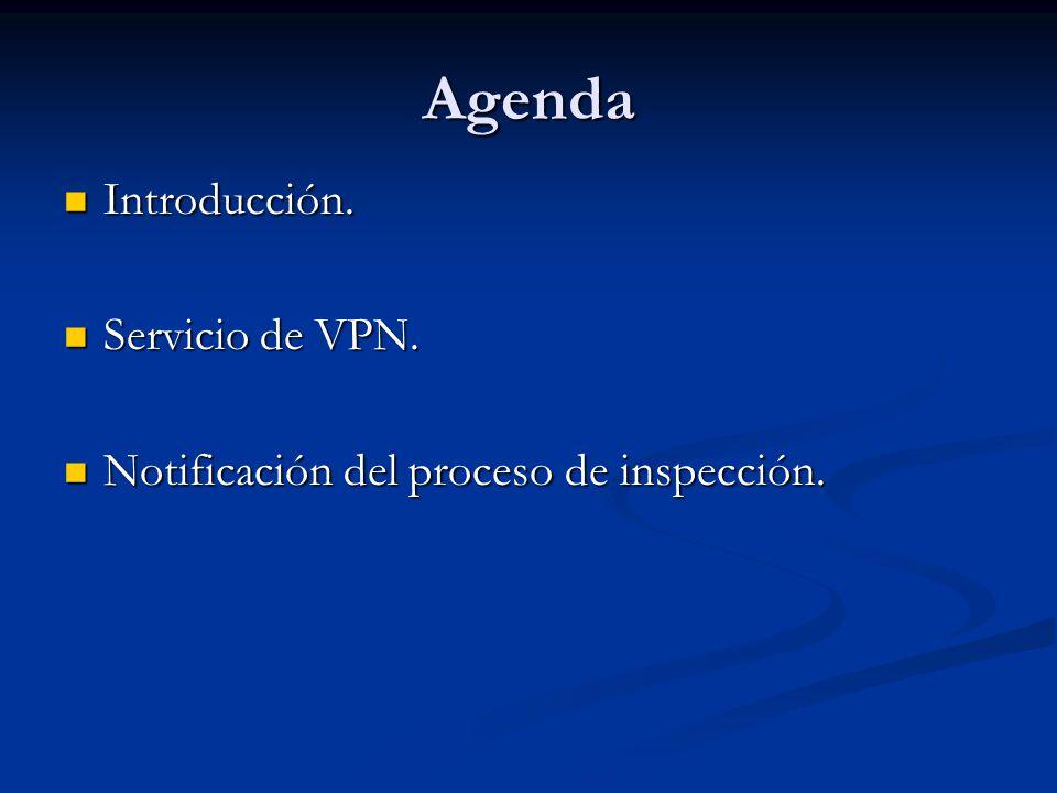 Agenda Introducción. Servicio de VPN.