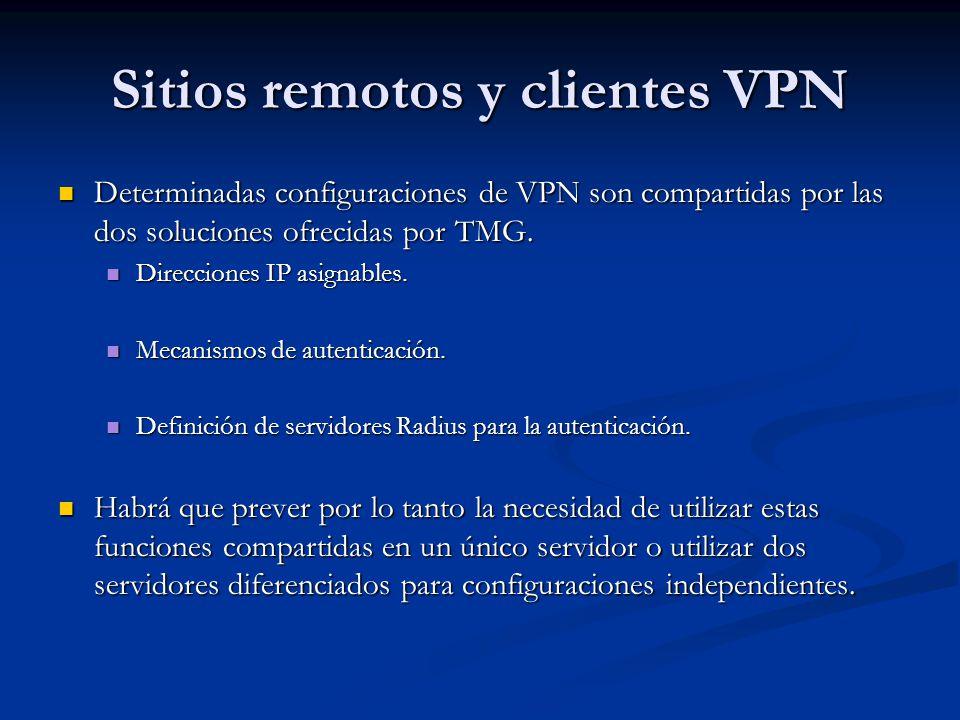 Sitios remotos y clientes VPN