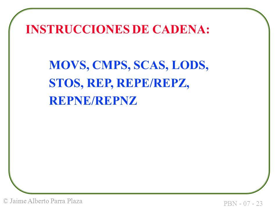 INSTRUCCIONES DE CADENA: