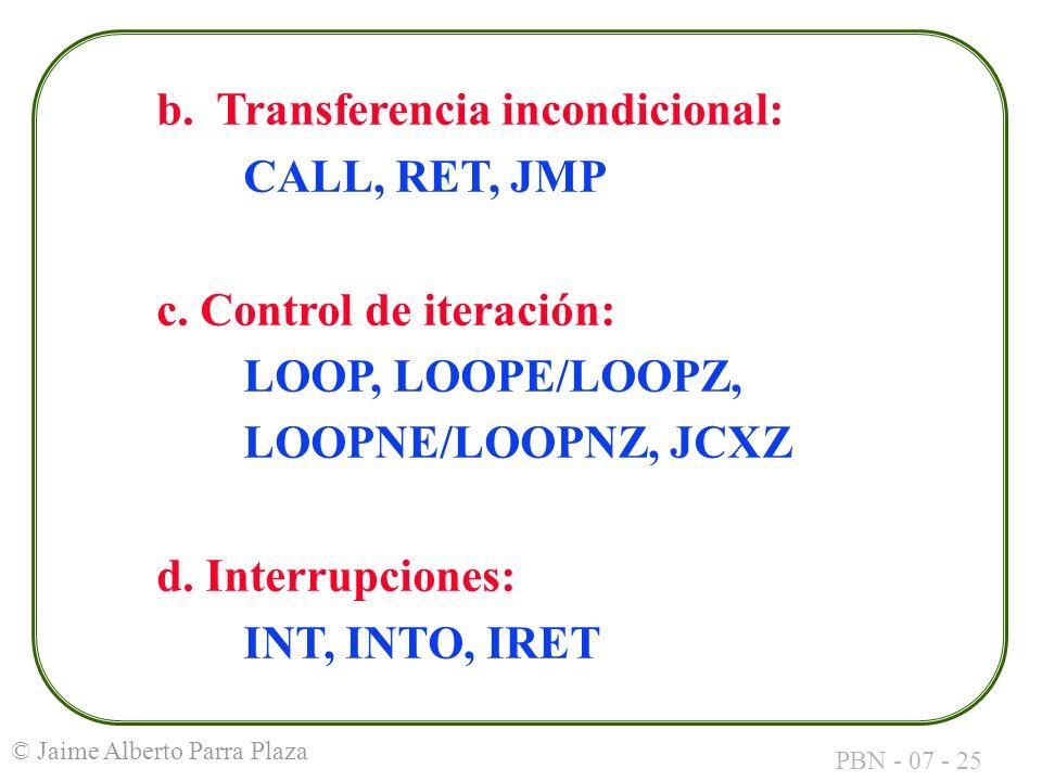 b. Transferencia incondicional: