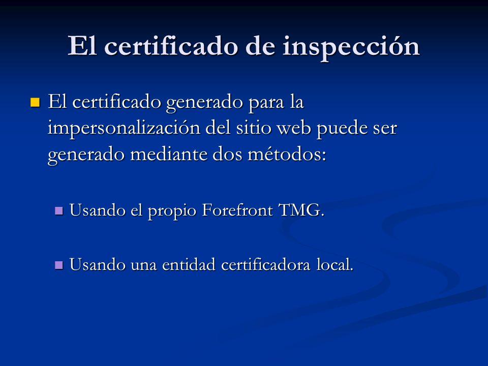 El certificado de inspección