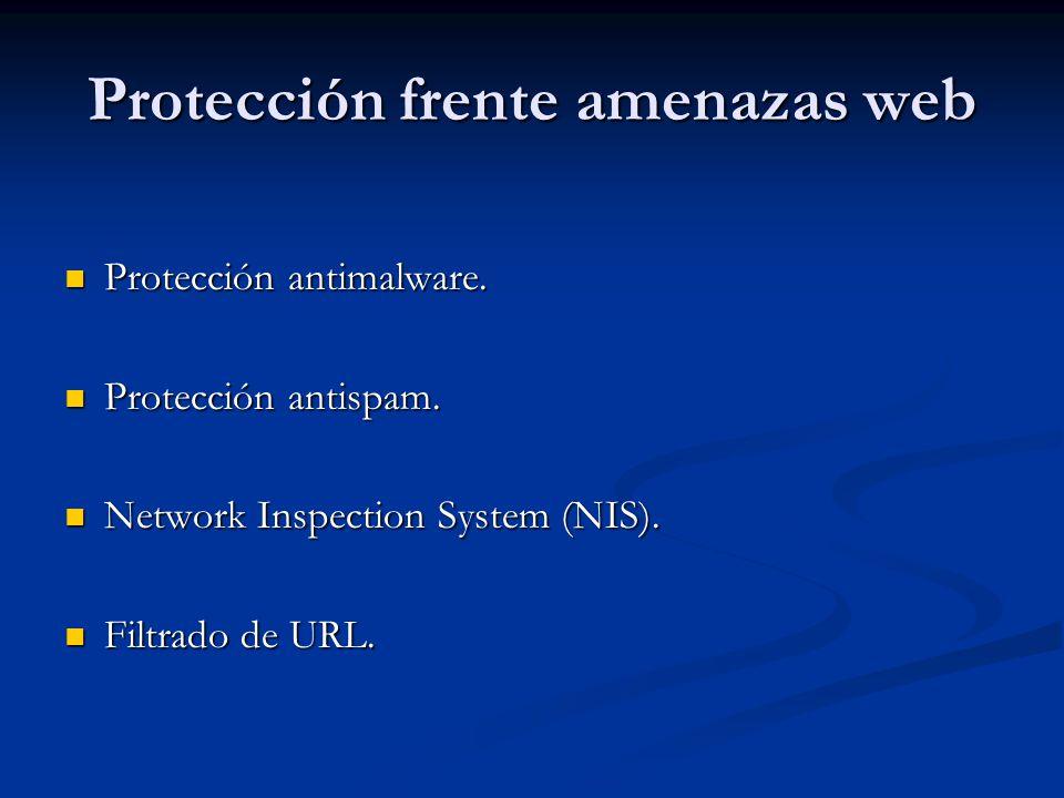Protección frente amenazas web
