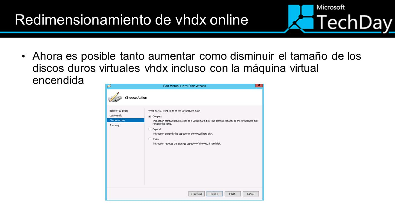 Redimensionamiento de vhdx online