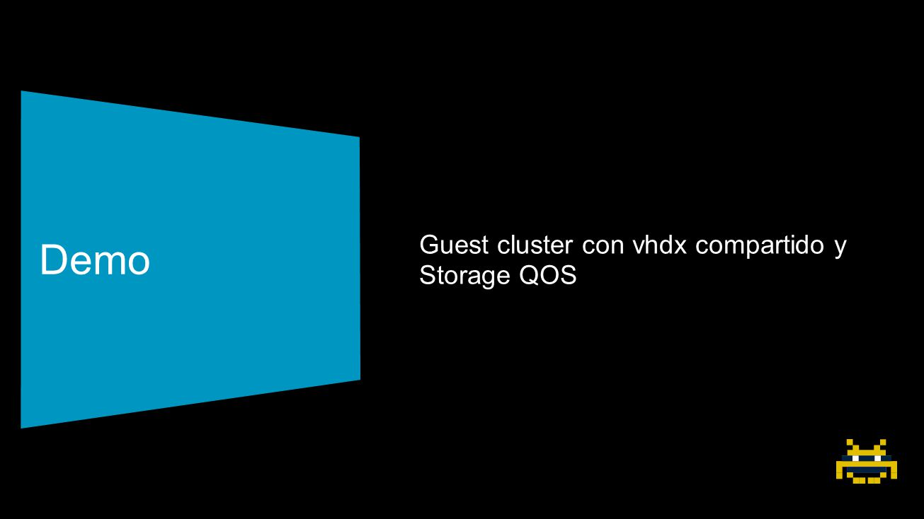 Demo Guest cluster con vhdx compartido y Storage QOS