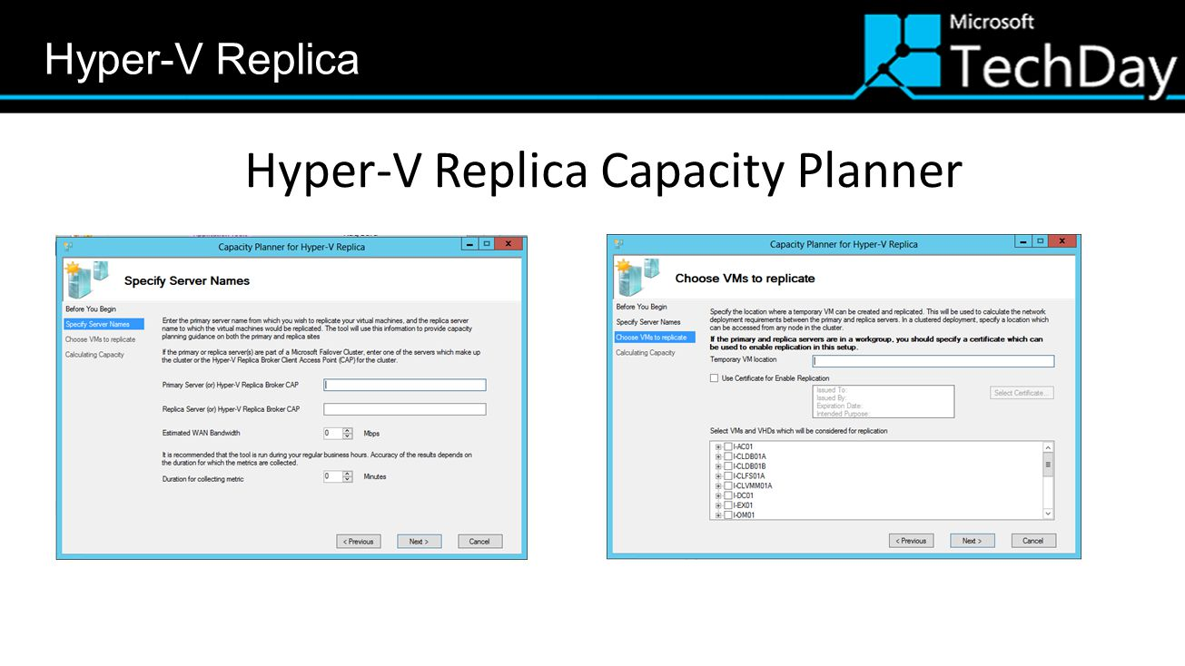 Hyper-V Replica Capacity Planner