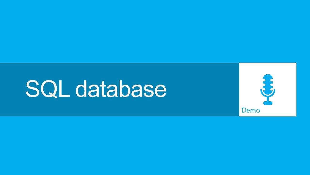 Demo SQL database