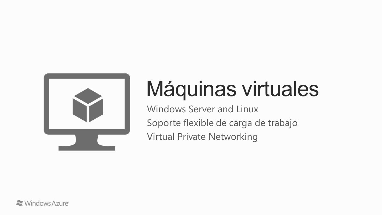 Máquinas virtuales Windows Server and Linux